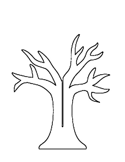 tree template without leaves tree without leaves coloring printable coloring pages