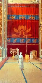 how thick was the curtain in the temple the veil of the temple was rent in twain scriptural