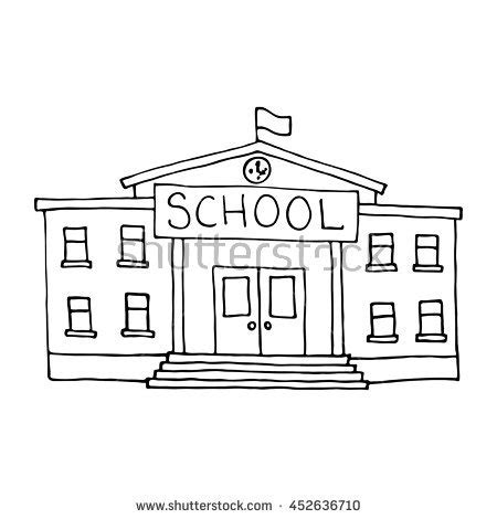 S Drawing Elementary School by School Building Stock Images Royalty Free Images