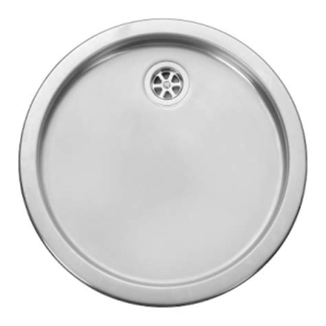 Round Kitchen Sinks Stainless Steel | leisure rd440bf 1 0 bowl round inset stainless steel