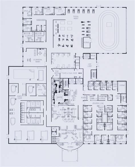 physical therapy clinic floor plans healthcare design by jennifer friedman at coroflot com