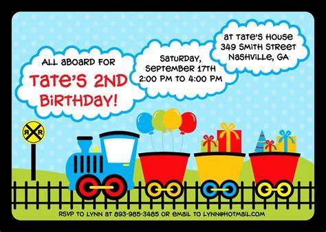 train birthday invitations template