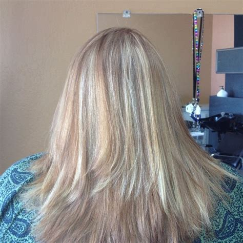 medium hairstyles with partial highlights partial highlights long layered haircut flat iron