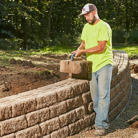 build  sturdy retaining wall     lifetime