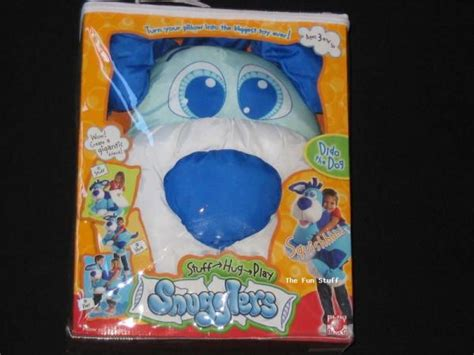 Snugglers Pillow by New Snugglers Dido The Blue Puppy Pillow Snuggler Ebay