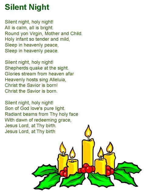 silent night lyrics christmas christmas songs lyrics christmas carols  kids classic