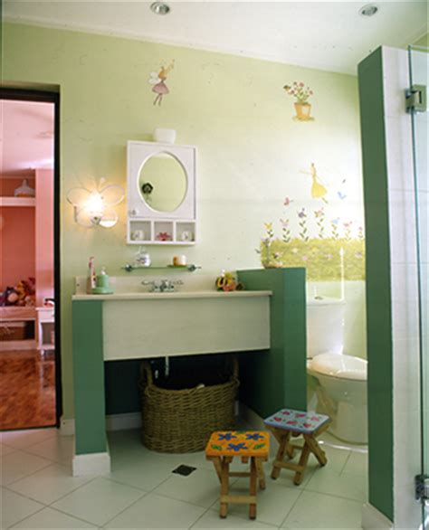 girls bathroom line clean lines and soft colors update a modern asian home rl