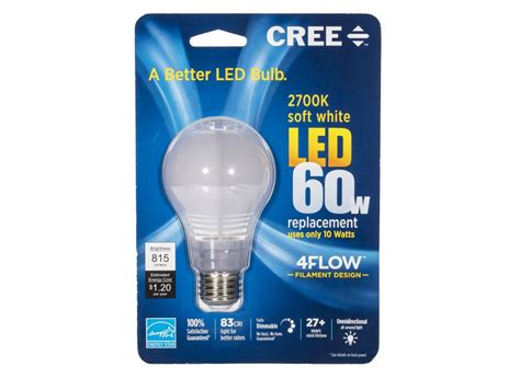60w replacement led light bulb cree 60w 4flow replacement a19 a better led bulb lightbulb