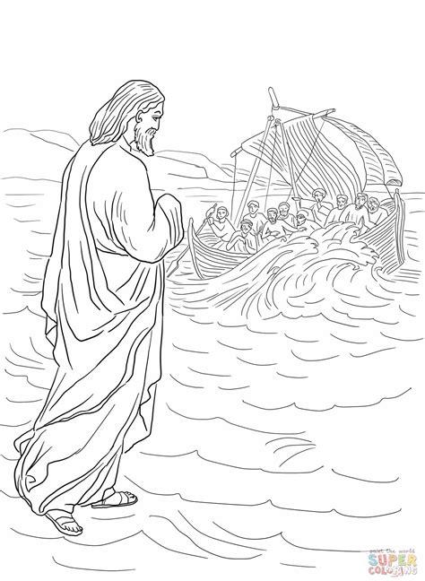 preschool coloring pages water jesus walks on water preschool jesus walking on the