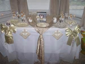 christening table decorations pic 13 baby
