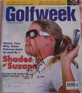 suzann pettersen autographed 2008 golfweek magazine lpga