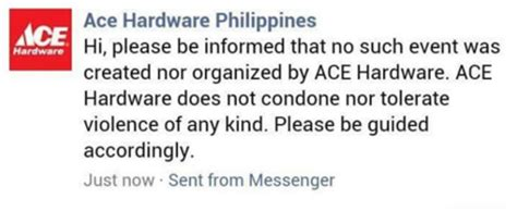 ace hardware facebook quot suntukan sa ace hardware quot puzzles netizens who s going