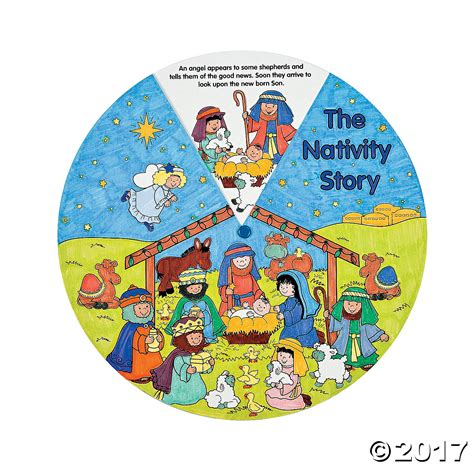 Nativity Paper Craft - religious paper color your own nativity wheels 12 pk