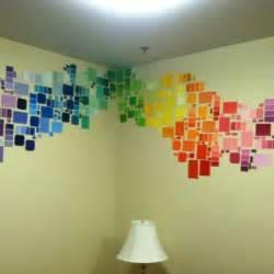 25 diy paint chip wall 34 diy room decor