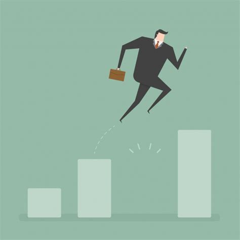 jump free businessman jumping design vector free