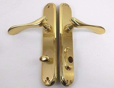 Pella Patio Door Handle Pella Rh Bright Brass Hinged Patio Door Handle Hardware Set Right 14e40000 W Box What S It Worth