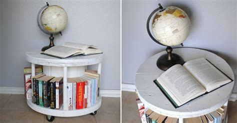 how to make spool bookcase diy crafts handimania