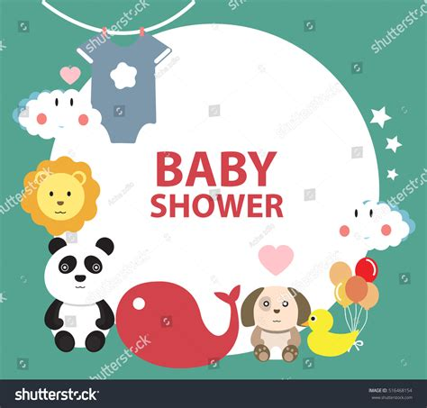 baby shower greeting card template baby shower invitation template greeting card stock vector