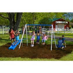 Backyard Discovery Swingsets Flexible Flyer Fun Time Metal Swing Set Walmart Com