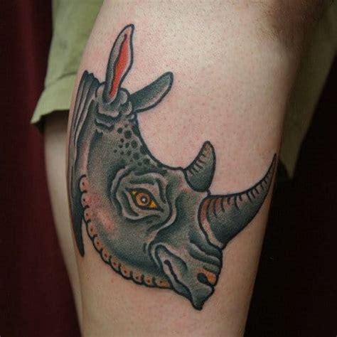 rhino pattern tattoo 16 sturdy rhino tattoos tattoodo