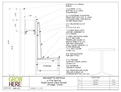 banquette section banquette drawing