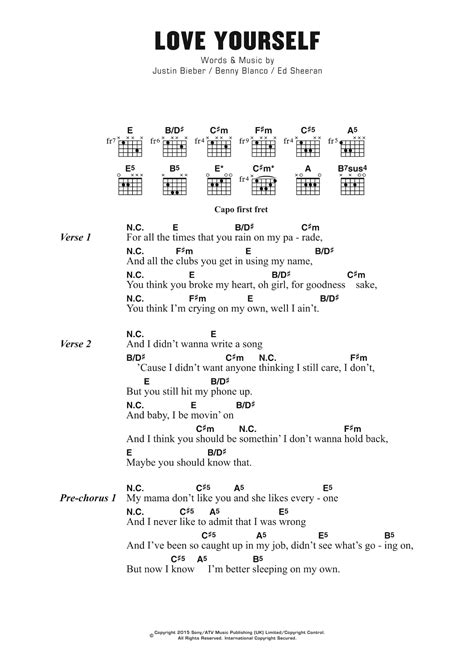 guitar tutorial video love yourself love yourself by justin bieber guitar chords lyrics