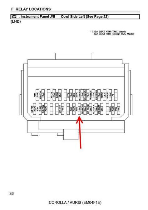 Toyota Auris Fuse Box Diagram Where Is The Fuse For 12v Cig Lighter Auris Club