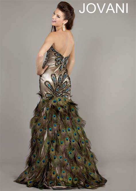 Peacock Prom Dress   images of peacock prom dress with real feathers long wallpaper   Stuff to