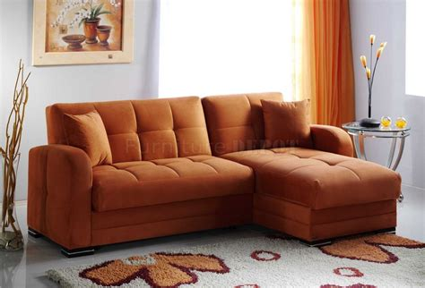 orange sectional sofa kubo sectional sofa bed in rainbow orange fabric by sunset