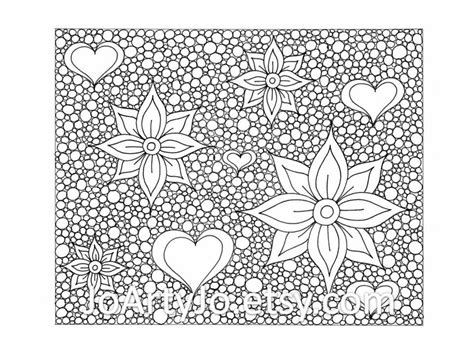 printable zentangle flowers zentangle inspired printable coloring page hearts and flowers