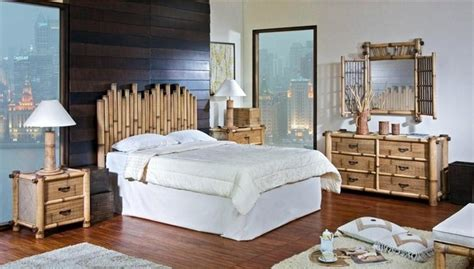 tropical bedroom furniture sets havana bamboo 4 pc queen bedroom set in natur tropical