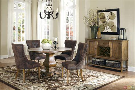 pedestal dining room table sets parkins pedestal table dining room set