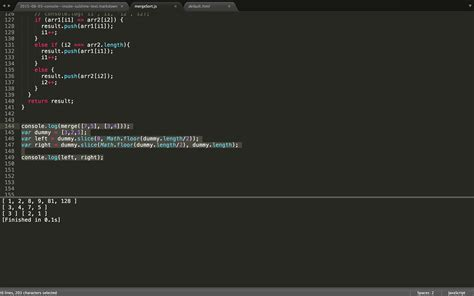 sublime text html template adding the console inside of sublime text