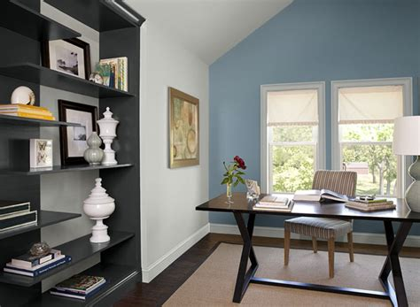 Home Office Colors by Office Room Paint Color With Dark Wood Furniture And Cream