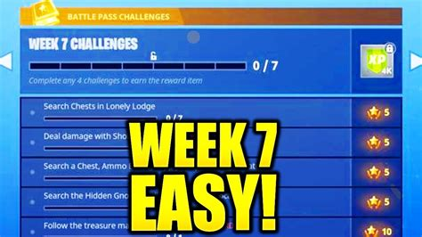 fortnite week 7 challenges fortnite season 4 week 7 challenges revealed and how to