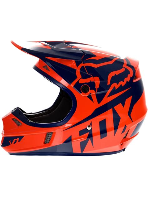 orange motocross casque motocross enfant fox 2016 v1 race orange bleu fox