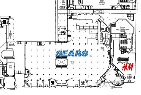 eaton centre floor plan nordstrom to replace sears at the toronto eaton centre
