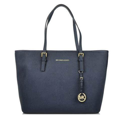 Michael Kors Jet Set Navy michael michael kors jet set travel navy multifunction tote bag