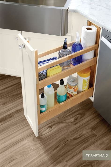 How To Clean Kraftmaid Kitchen Cabinets This Pull Out Simplifies The Search For The Cleaning Products In The Kitchen Kraftmaid