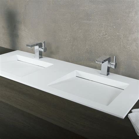 Bathroom Sinks Top Mount by Dax Solid Surface Rectangle Bowl Top Mount Bathroom