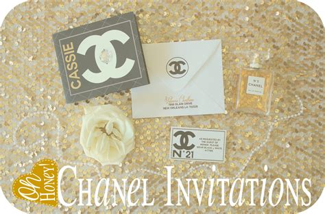Coco Chanel Birthday Party Ideas Photo 4 Of 20 Catch My Party Chanel Invitation Template