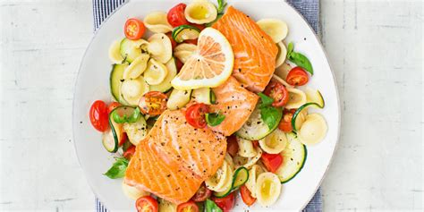 Eat In Kitchen Decorating Ideas warm pasta salad with salmon recipe