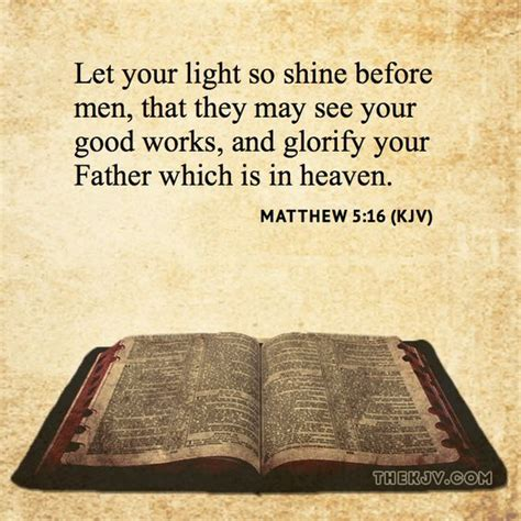 matthew 5 16 let your light so shine before that