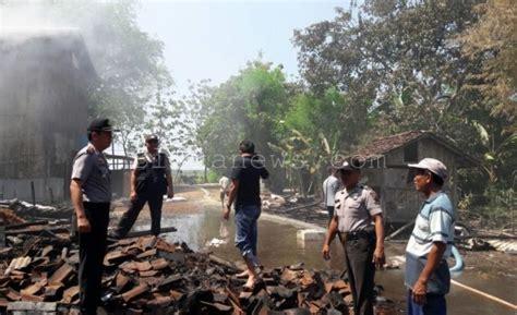Oven Juta gudang tembakau di randublatung terbakar kerugian
