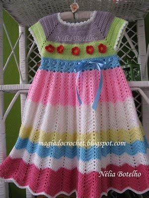 magiadocrochet blogspot magia do crochet vestido em crochet para menina e os meus