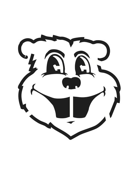 row the boat minnesota logo goldy gopher pumpkin carving stencil gophers