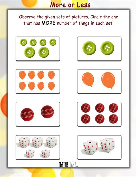 more and less worksheets more or less mathsdiary