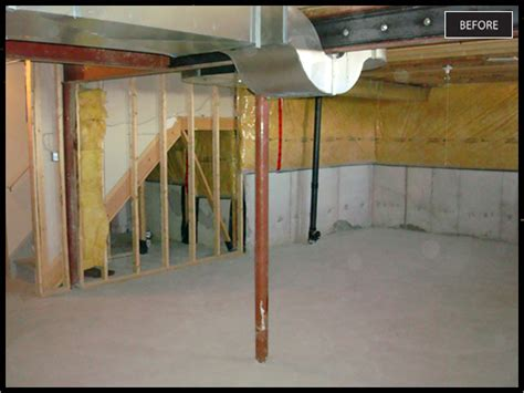 pole in my basement space craft home services basement post removal basement