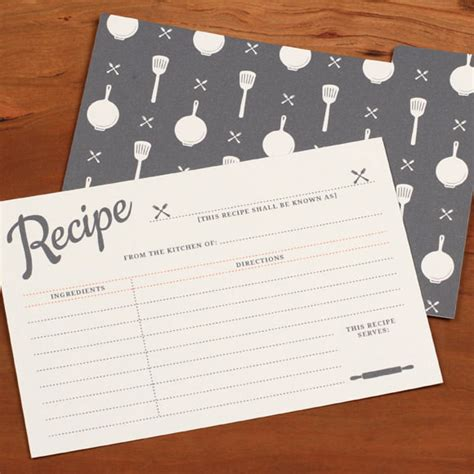 wedding shower recipe card template 40 recipe card template and free printables tip junkie