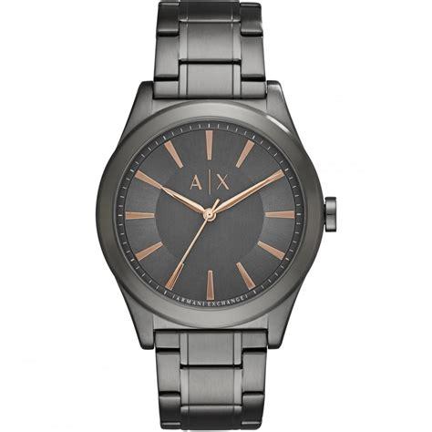 armani exchange s gunmetal grey ax2330 watches